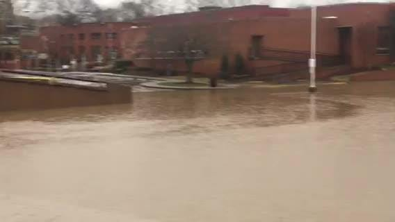 Heavy rain across Middle Tennessee caused flash flooding in Brentwood