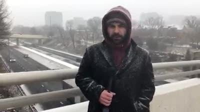 Reporter Adam Duvernay reports from Wilmington as a winter storm moves in.