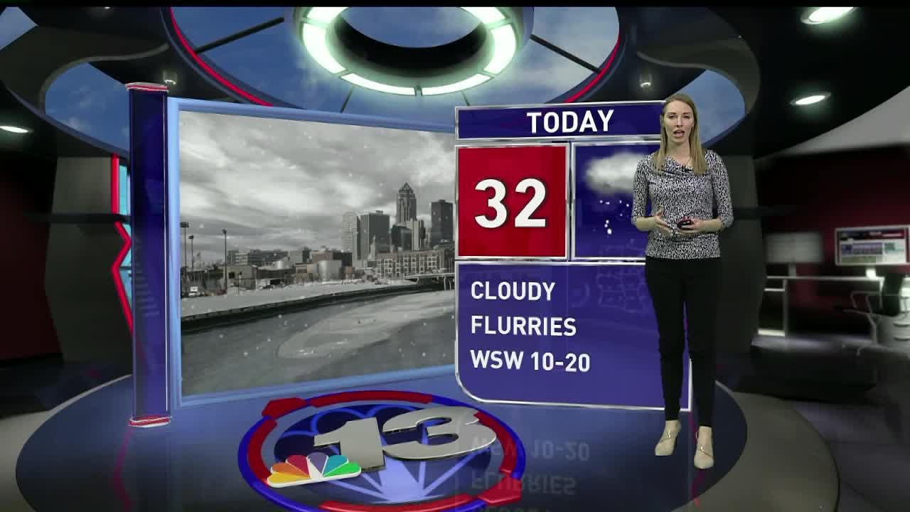 Rain-snow mix is forecast for Saturday but