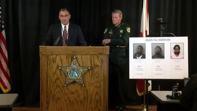 Escambia County Sheriff's Office deputies say that around 8:13 p.m. Tuesday, they responded to the Quick Fill on Mobile Highway to find a deceased clerk.