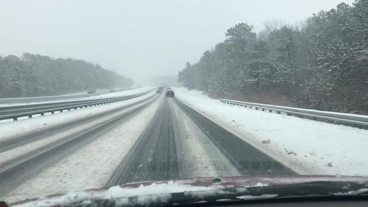 Road conditions in southern Monmouth County
