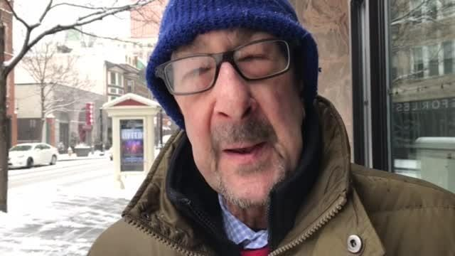 RAW VIDEO: Snow prompts manager to close store early