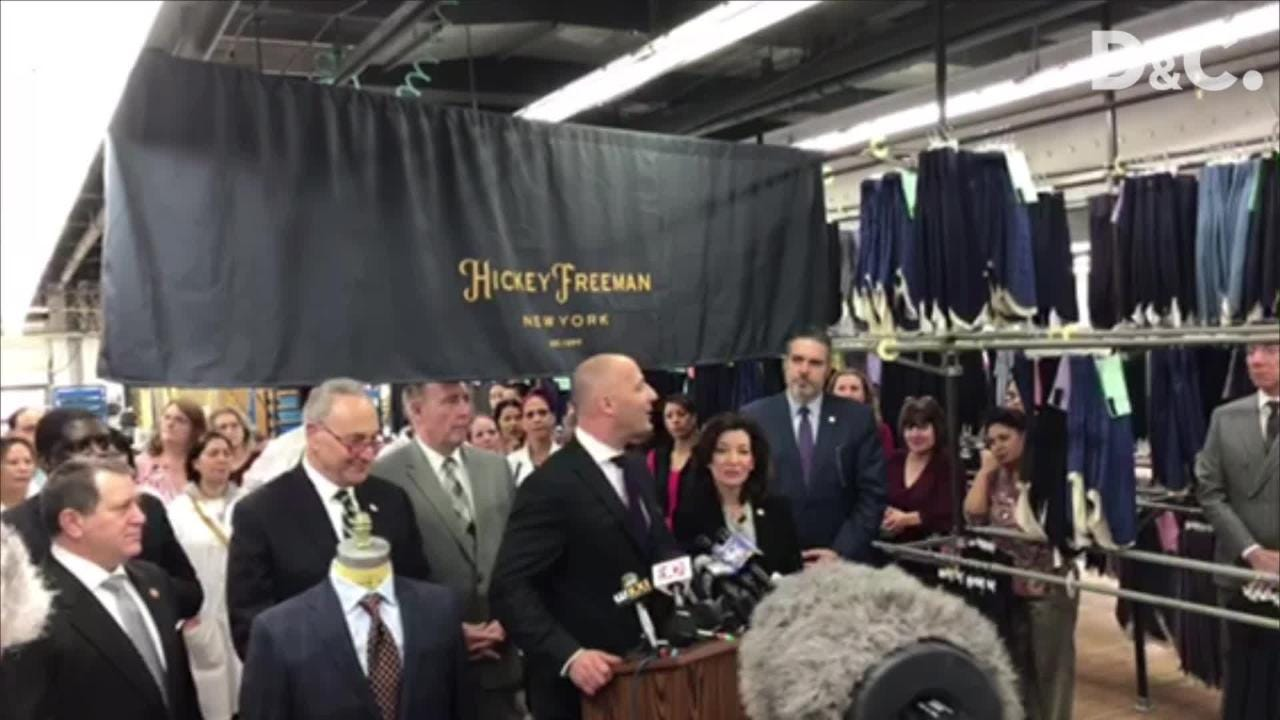 Rochester's Hickey Freeman plans to invest $8 million in its North Clinton Avenue factory, expand operations and add 80 jobs over three years.