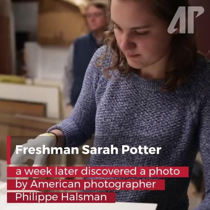 A Philippe Halsman photo print of Winston Churchill, and a drypoint by Alphonse Legros were recently discovered in Austin Peay State University's Permanent Collection.