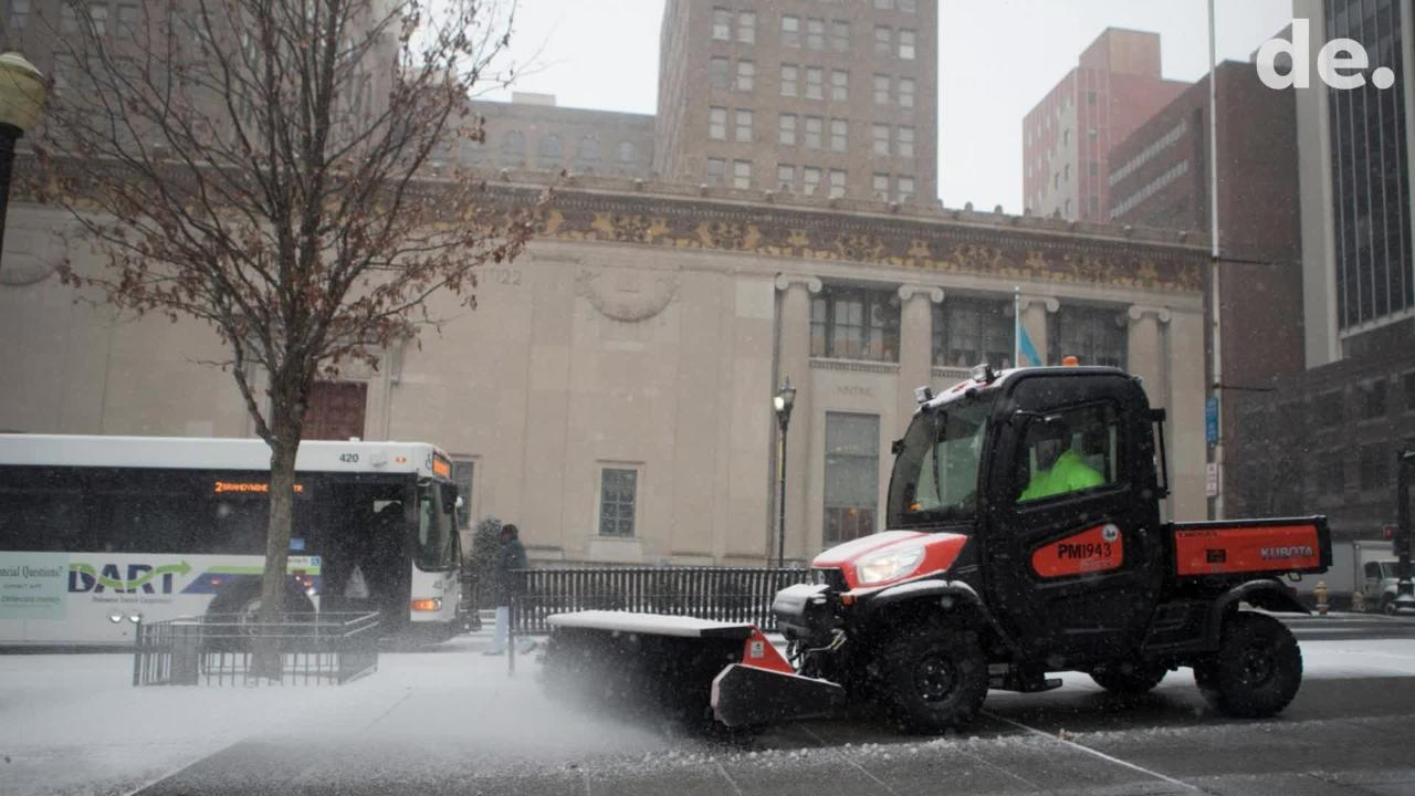 Zach DeLong didn't open his food truck in Newarkbecause he parks outside JP Morgan and heard no one was working today.