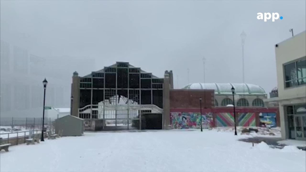 Wednesday's winter storm turned the Asbury Park Boardwalk into a snowy ghost town.
