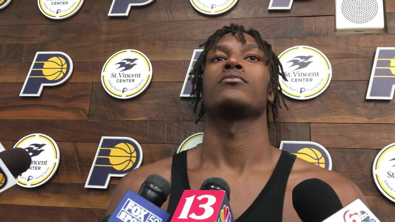 Pacers forward Myles Turner took time to relax during All-Star break.