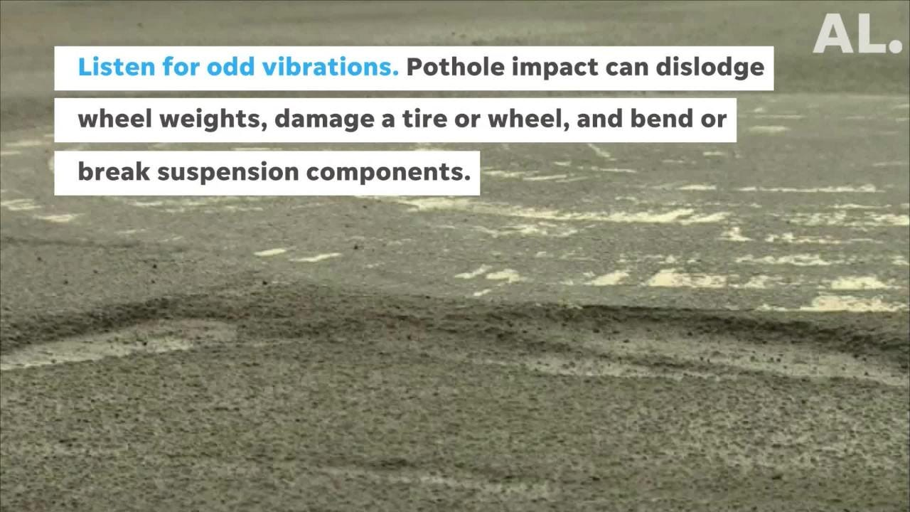 Utilize these tips to prevent potholes from damaging your vehicle. (Tips courtesy of State Farm and AAA.)