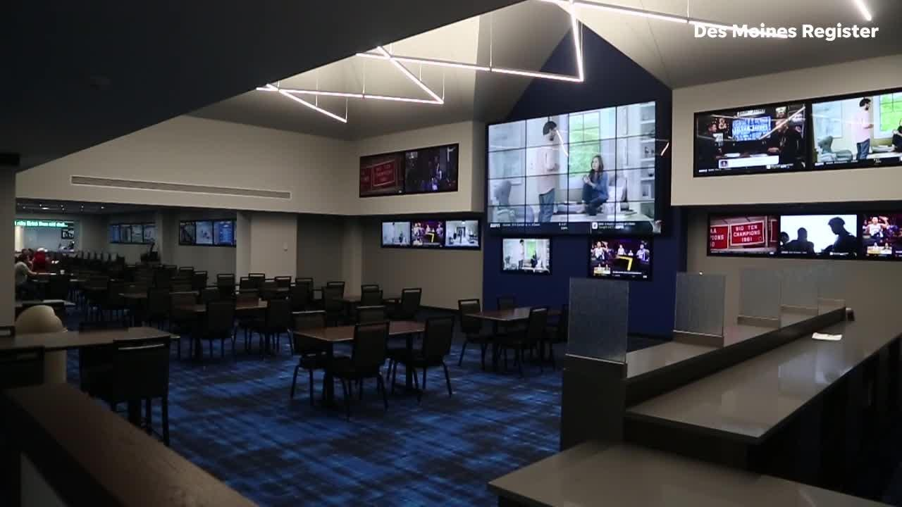 Prairie Meadows recently finished renovations and is ready to open the states first sports book once the Legislature approves it.