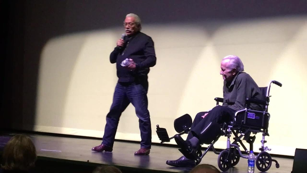 "Academy Award nominated actor Edward James Olmos talks ""Walking with Herb"" praises Robert M. Young and Mark Medoff at the Las Cruces Film Festival."