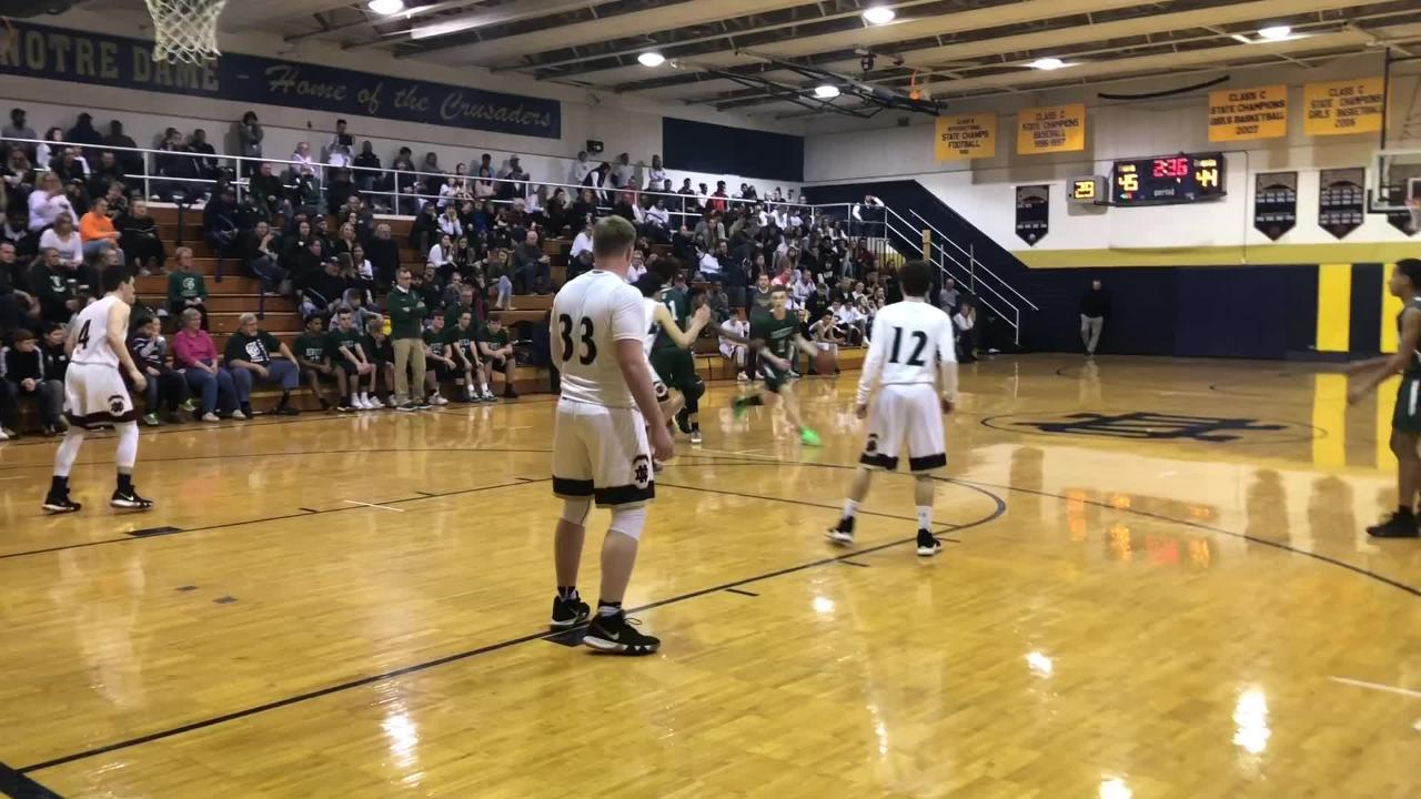 Highlights from the Newfield boys basketball team's 57-53 win over Elmira Notre Dame in a Section 4 Class C first-round game Feb. 20, 2019 at END.