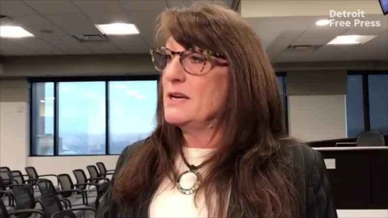 Macomb County Commissioner Veronica Klinefelt talks with the media about an audit that will be done on Prosecutor Eric Smith's forfeiture funds.