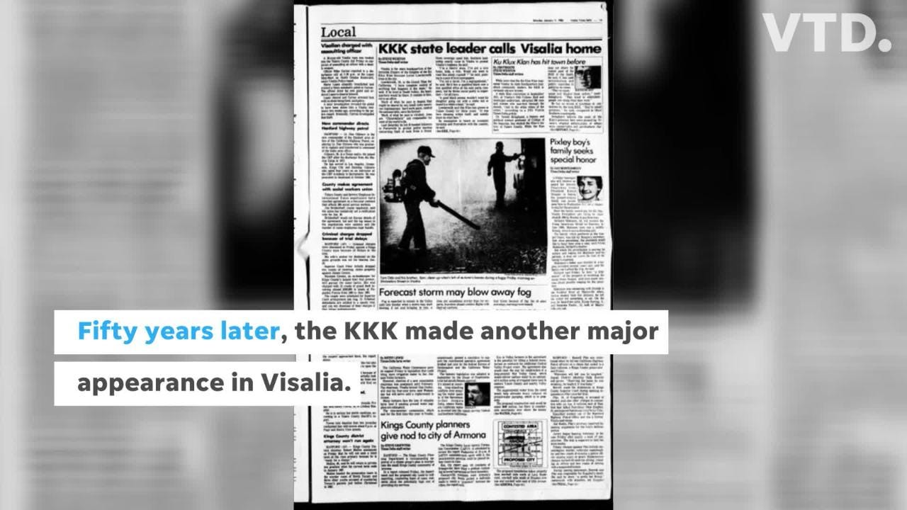The Times-Delta takes a look back at intolerance in Tulare County.