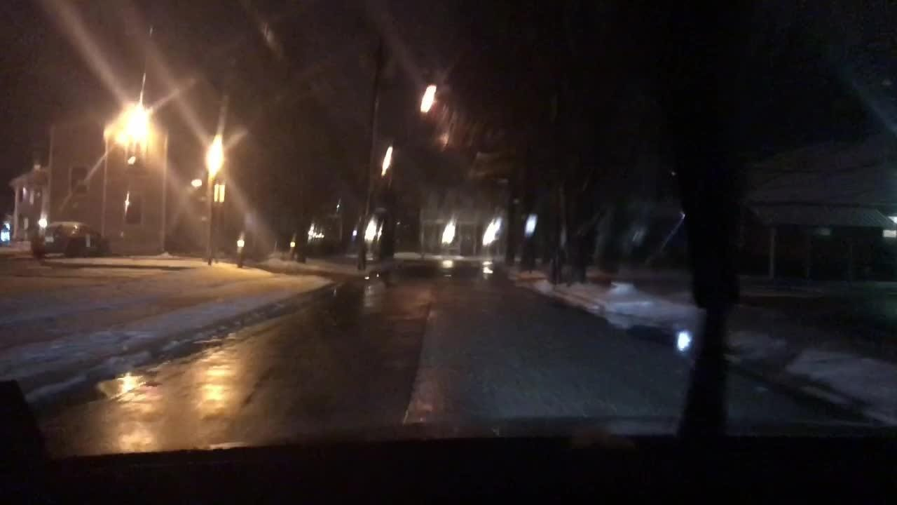 Driving in downtown Toms River on a stormy night