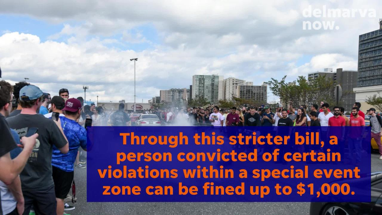To help strengthen the special event zone, Delegate Wayne Hartman recently introduced a bill to increase fines up to $1,000 for some violations.