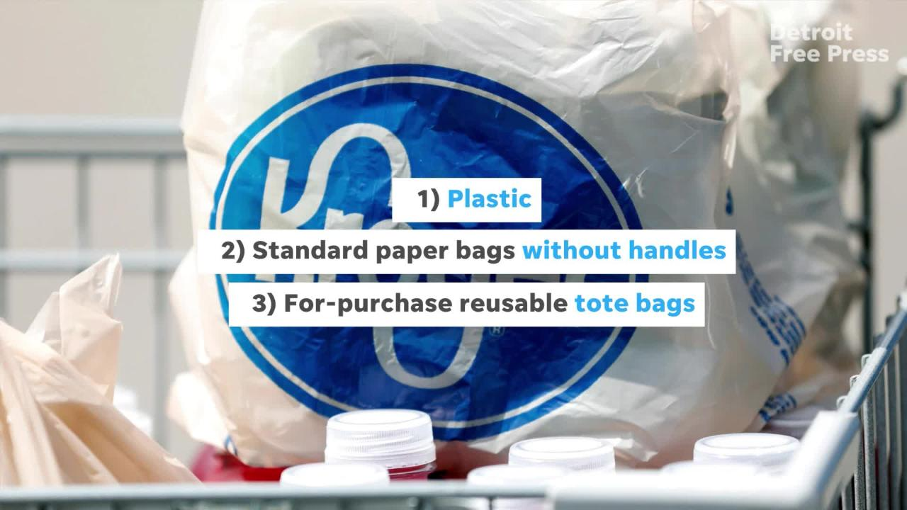 Kroger to stop carrying paper bags with handles in Michigan