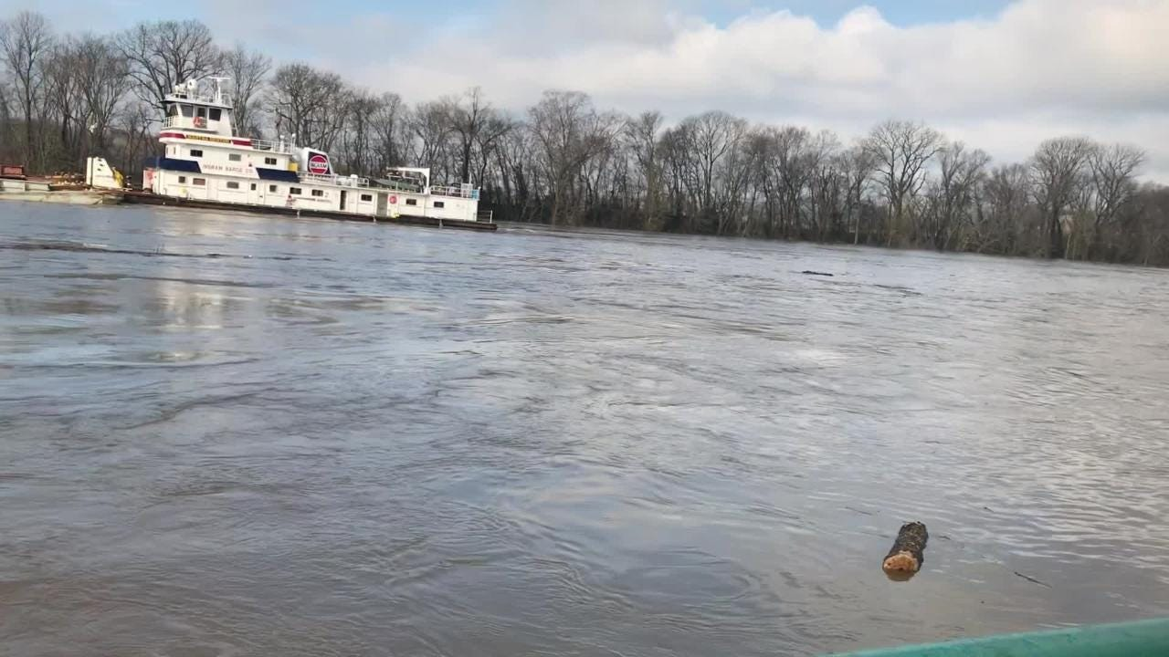 The Cumberland River was high at McGregor Park in Clarksville on Thursday Feb. 21, 2016, and more rain could cause significant flooding soon