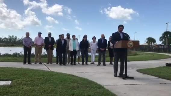 Gov. Ron DeSantis announces three new appointees to the South Florida Water Management District at North Collier Regional Park Thursday, Feb. 21, 2019.
