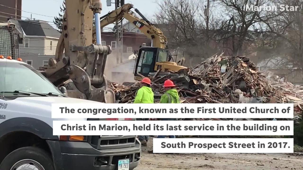 A 90-year-old church on South Prospect Street was demolished on Tuesday.