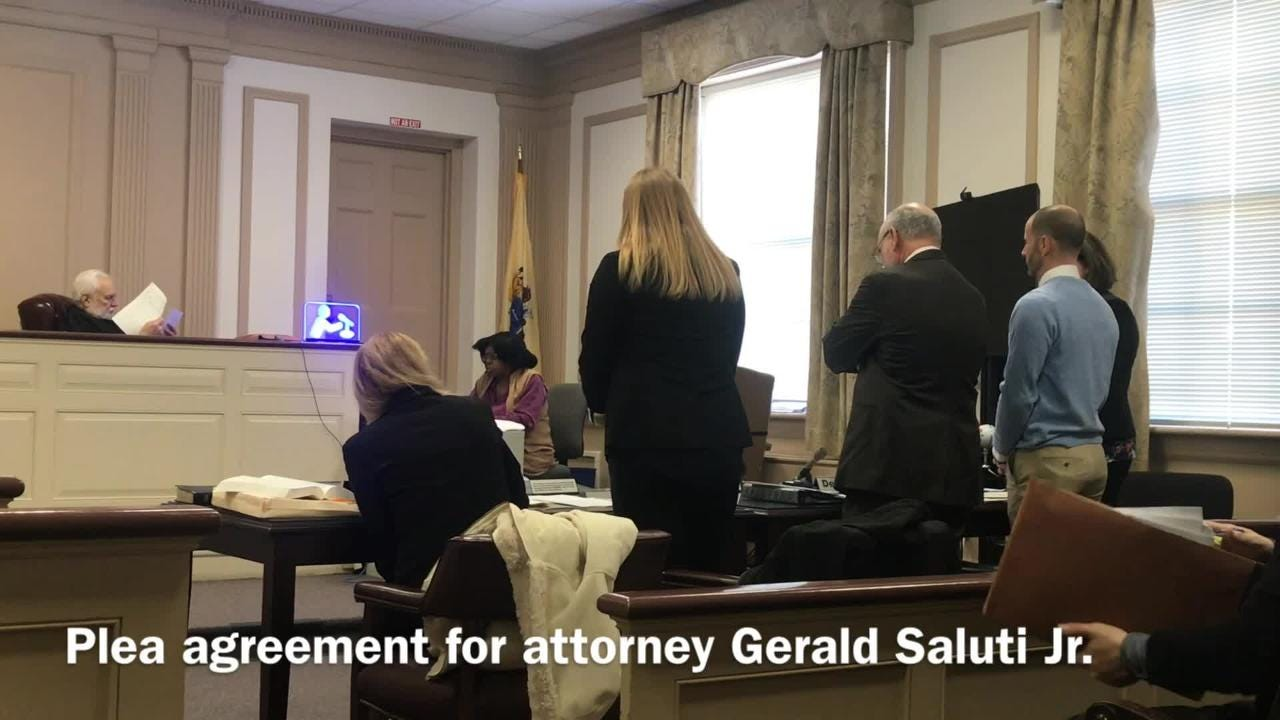 Former attorney Gerald Saluti Jr. pleads guilty to bilking clients and will cooperate in the case against his partner, Richie Roberts. Feb. 21, 2019