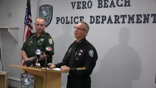 The Vero Beach Police Department hosts a news conference Feb. 21, 2019 detailing a prostitution and human trafficking ring that was busted across Treasure Coast, Palm Beach and Orange counties.