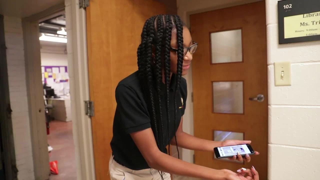Milwaukee College Prep students re-create photos of influential African-Americans for teacher's Black History  Month project.