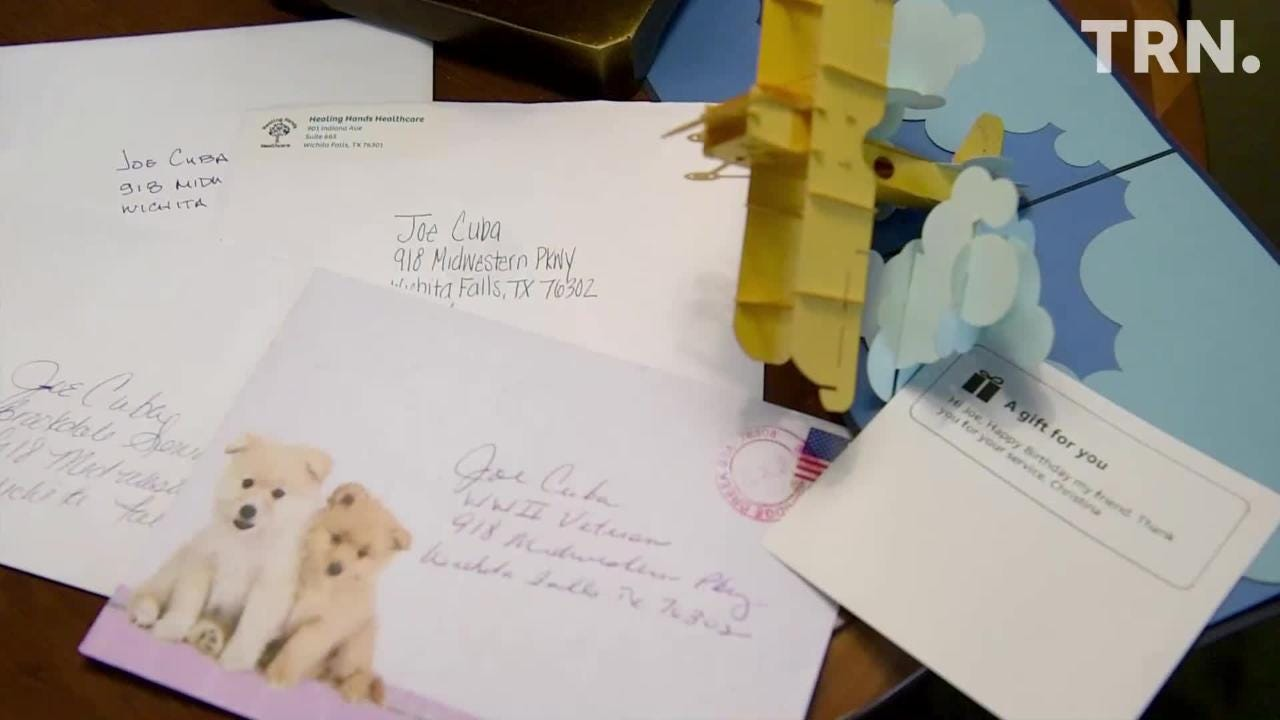 Joe Cuba will turn 100 years old March 2 and hopes to receive 100 birthday cards.