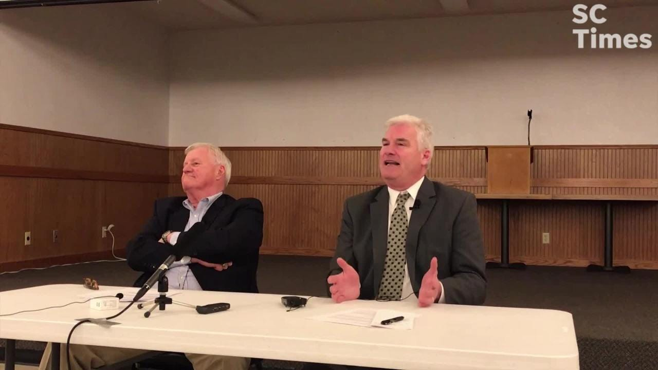 """Emmer, a Republican from Minnesota's 6th District, told an audience, primarily from agriculture industries, that he supported an """"all of the above"""" energy policy, before commenting on the Green New Deal. The proposal seeks to address climate change."""