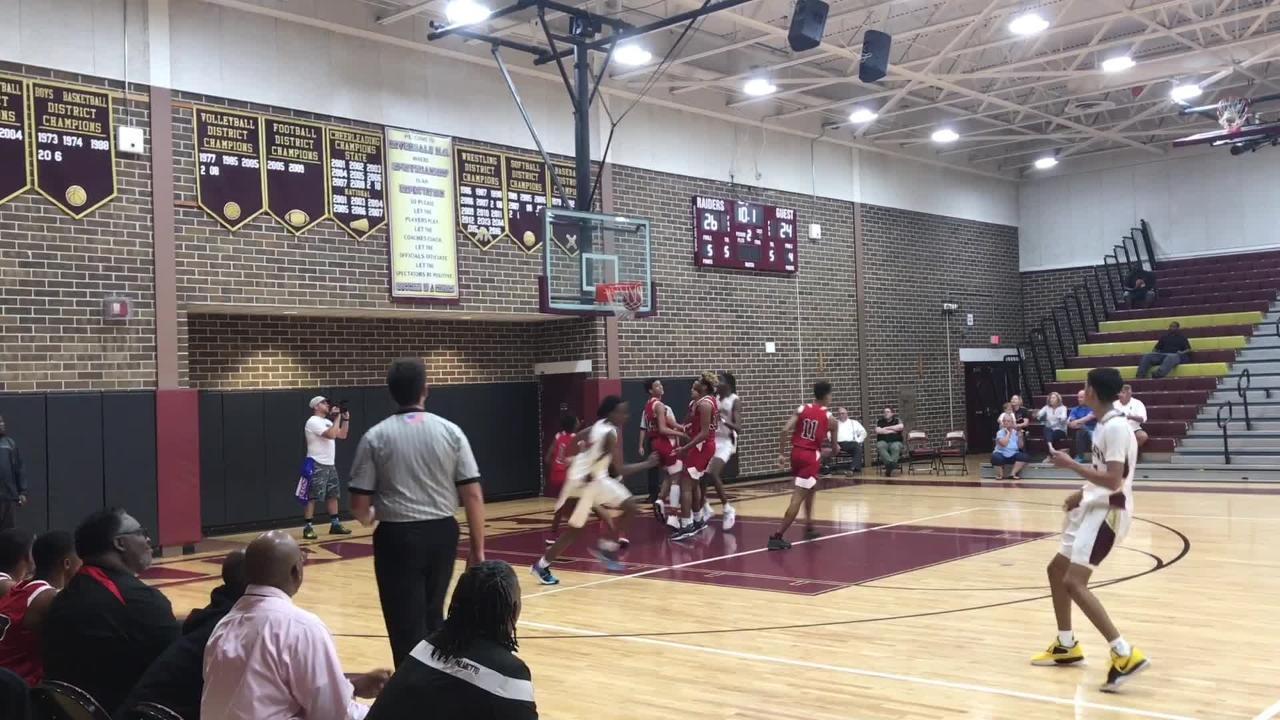 15 points from Trevon Dickerson led four Raiders in double figures as Riverdale overcame a late scare to win 61-54 over Palmetto.