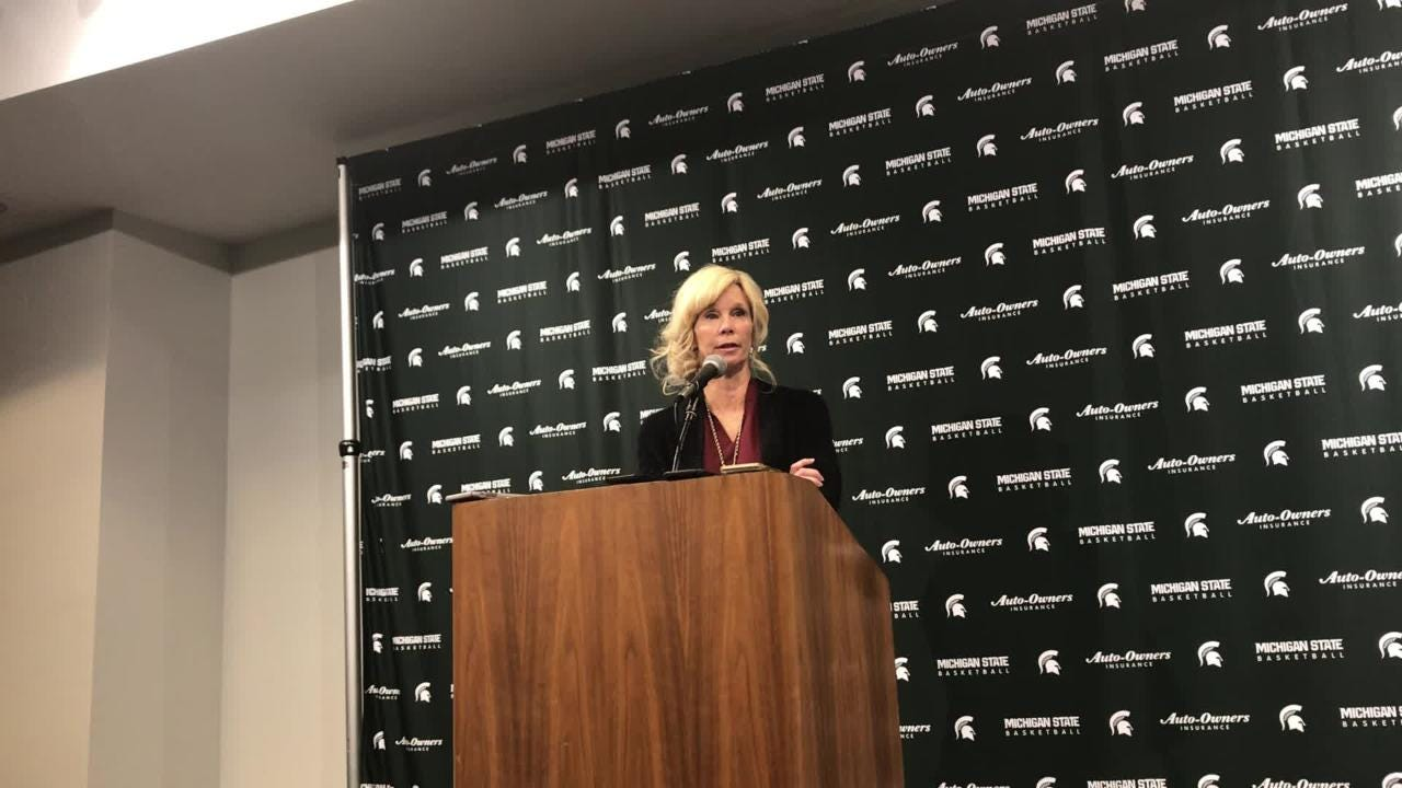Hear remarks from Suzy Merchant on her team's performance following a home loss to Ohio State on Thursday, Feb. 21, 2019.