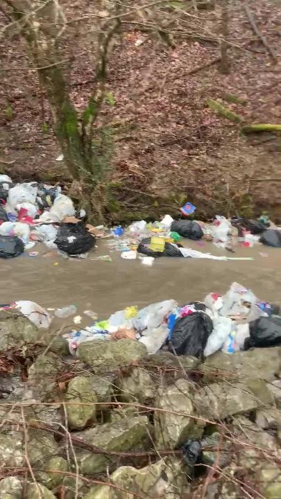 Highway 70 is closed Friday morning. EMA Director Edwin Hogan said the 18-wheeler tipped, dumping trash into a nearby creek.