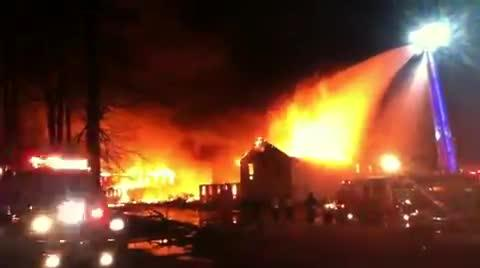 This March 2013 arson destroyed the Whispering Pines Motel in Tasley, Virginia. It was part of an Accomack arson spree.