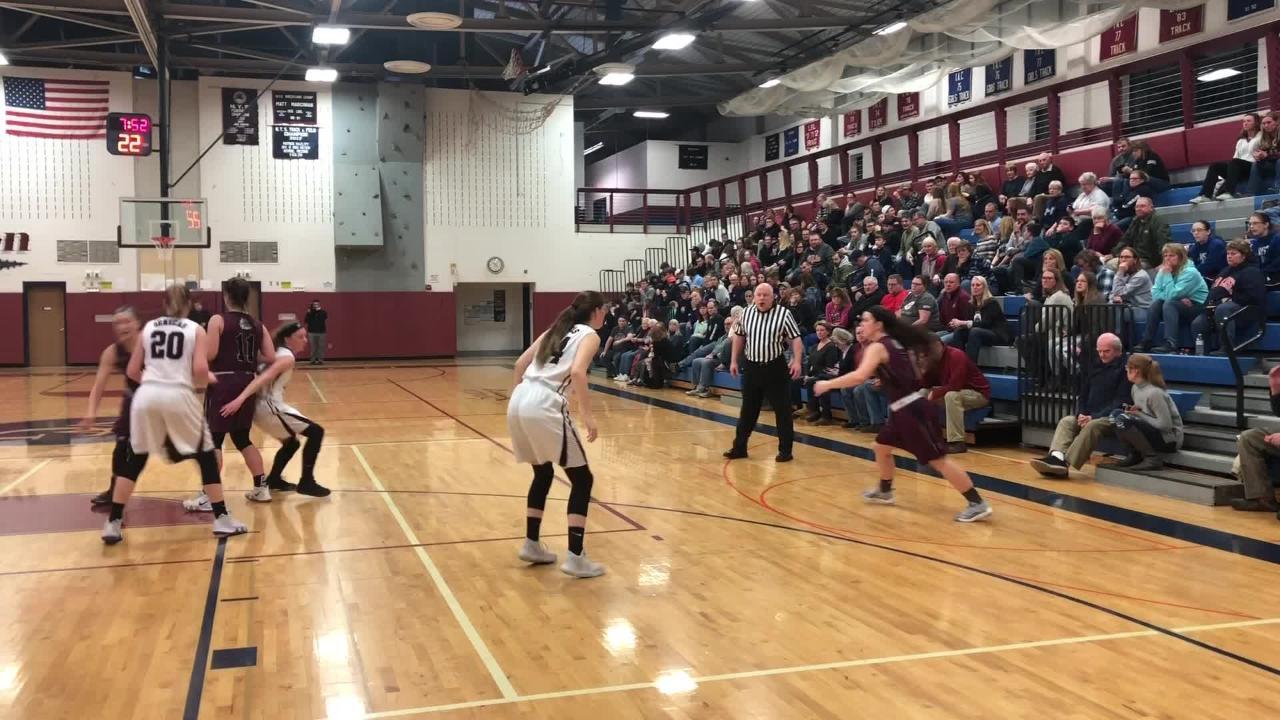 Highlights from the Watkins Glen girls basketball team's 61-35 win over Delhi in a Section 4 Class C quarterfinal Feb. 22, 2019 at Watkins Glen.