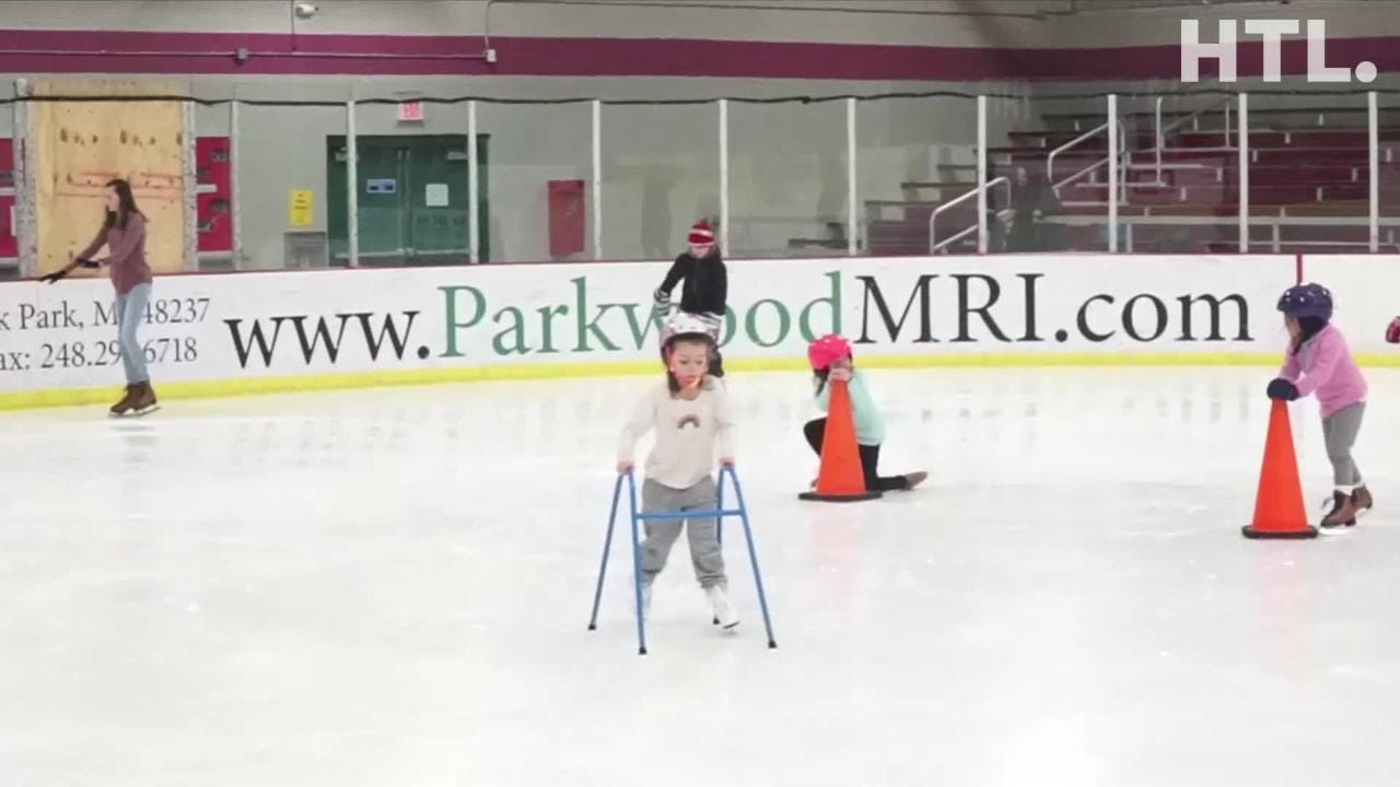 Take a look at a recent Birmingham Ice Arena's afternoon open skate. The ice time, where visitors can rent skates,  take place Weds-Fri at 1:15 pm.