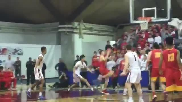 Doug Edert nails a nice floater for Bergen Catholic as they Crusaders took down Don Bosco for the Jamboree title.