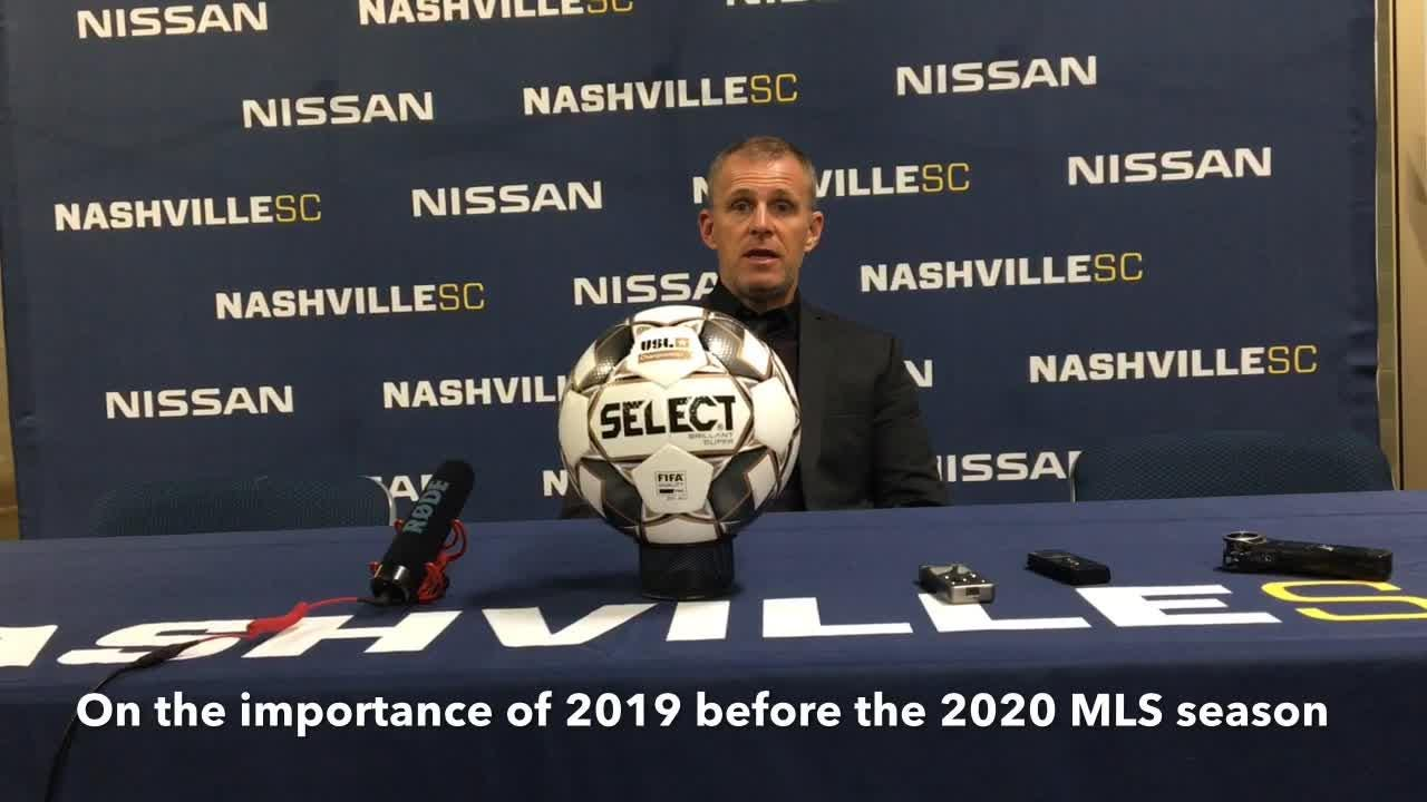 Nashville SC coach Gary Smith discusses Nashville's 2-0 loss to NYCFC and what's ahead with the 2020 MLS season looming on Feb. 22, 2019