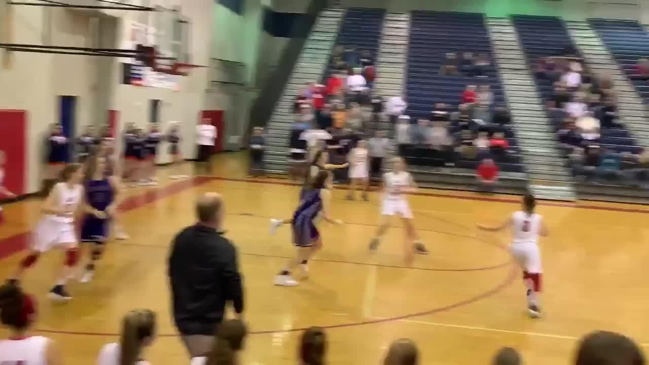 Creek Wood's Raegan Hohl hit a game-winning 3-pionter at the buzzer to move Creek Wood into the Region 6-AA semifinals.