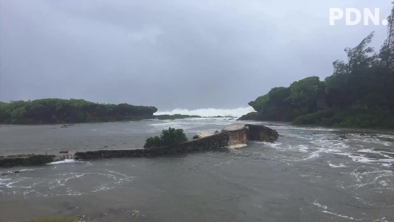 Photos and video of Typhoon Wutip's effect on southern Guam, Feb. 23, 2019.