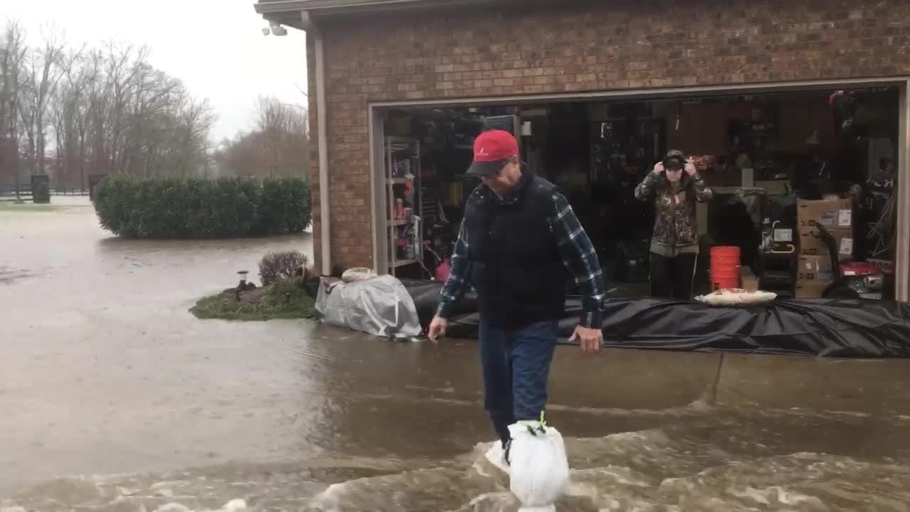 Steelson Court in the Royal Glen Subdivision in Murfreesboro is being evacuated due to flooding
