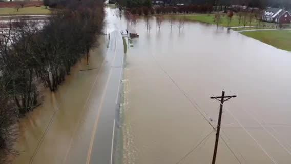 Several roads and areas in Rutherford County have been inundated with flood waters.