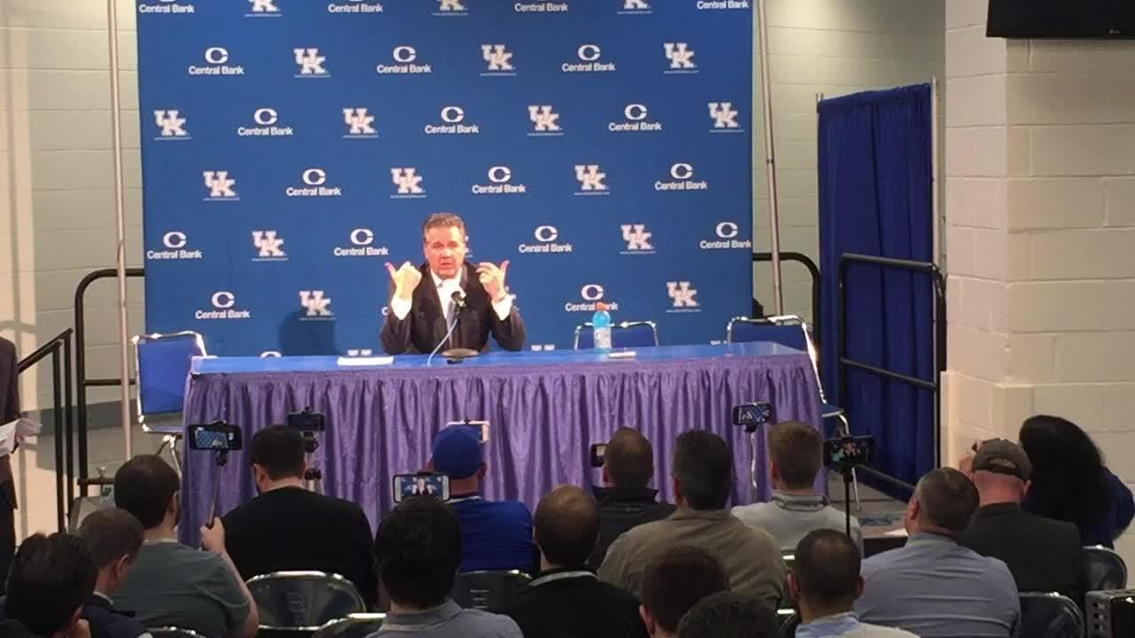 John Calipari's postgame news conference after UK's win over Auburn