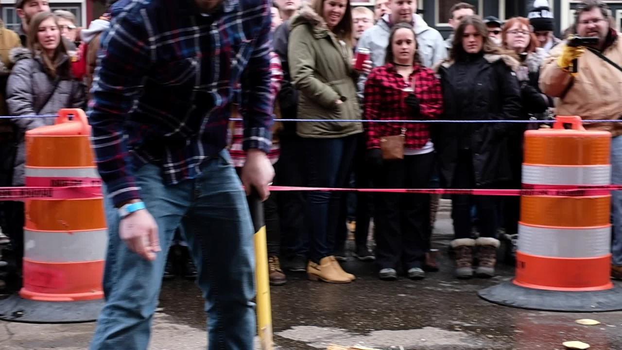 Hundreds attend the Brrs, Beards and Brews Lumberjack Festival