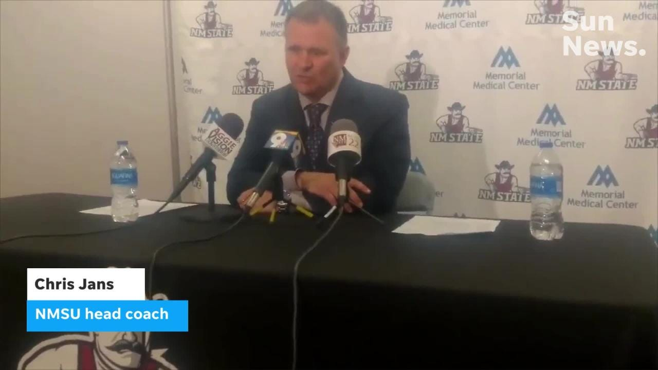 New Mexico State players and head coach Chris Jans talk about Saturday's victory over Texas Rio Grande Valley.