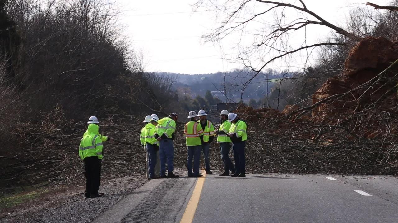 I-24 Mudslide closes interstate outside Nashville