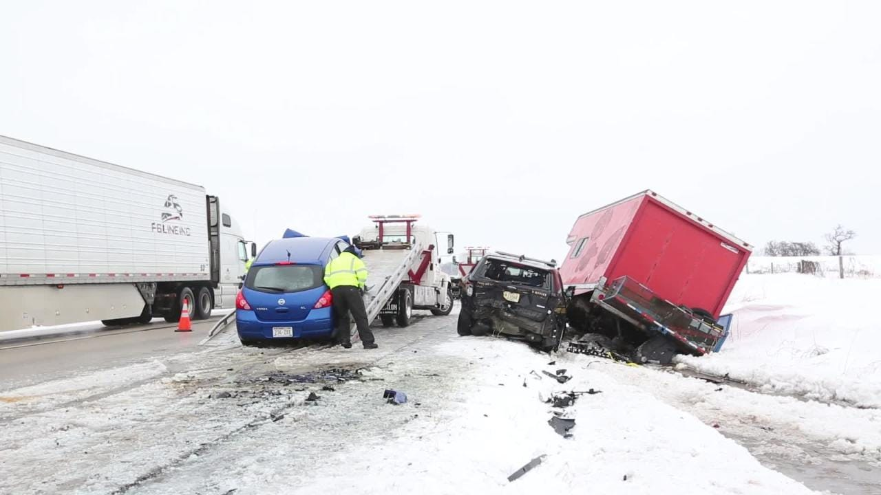A Fond du Lac County Sheriff's deputy and another person sustained minor injuries in a three vehicle crash during adverse driving conditions due to weather.