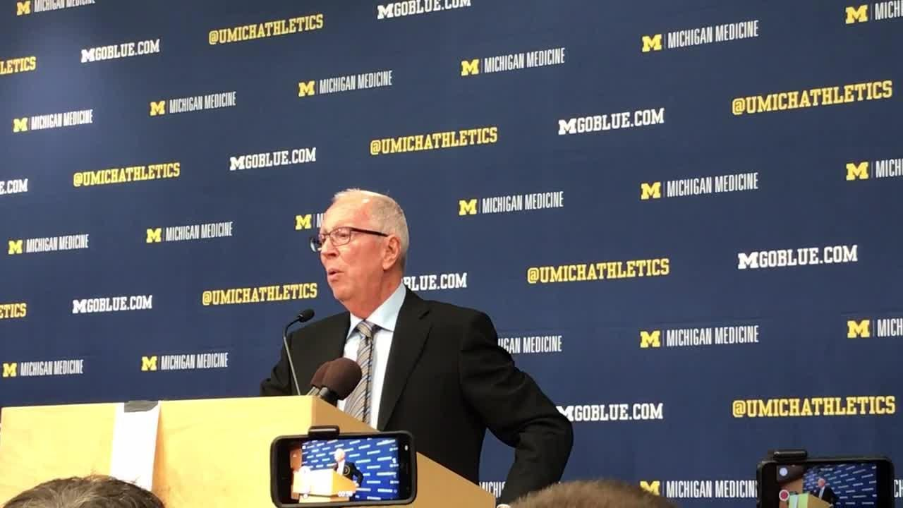 Former Michigan basketball coach Steve Fisher is in Ann Arbor for the first time since 1997 on Sunday, Feb. 24, 2019.