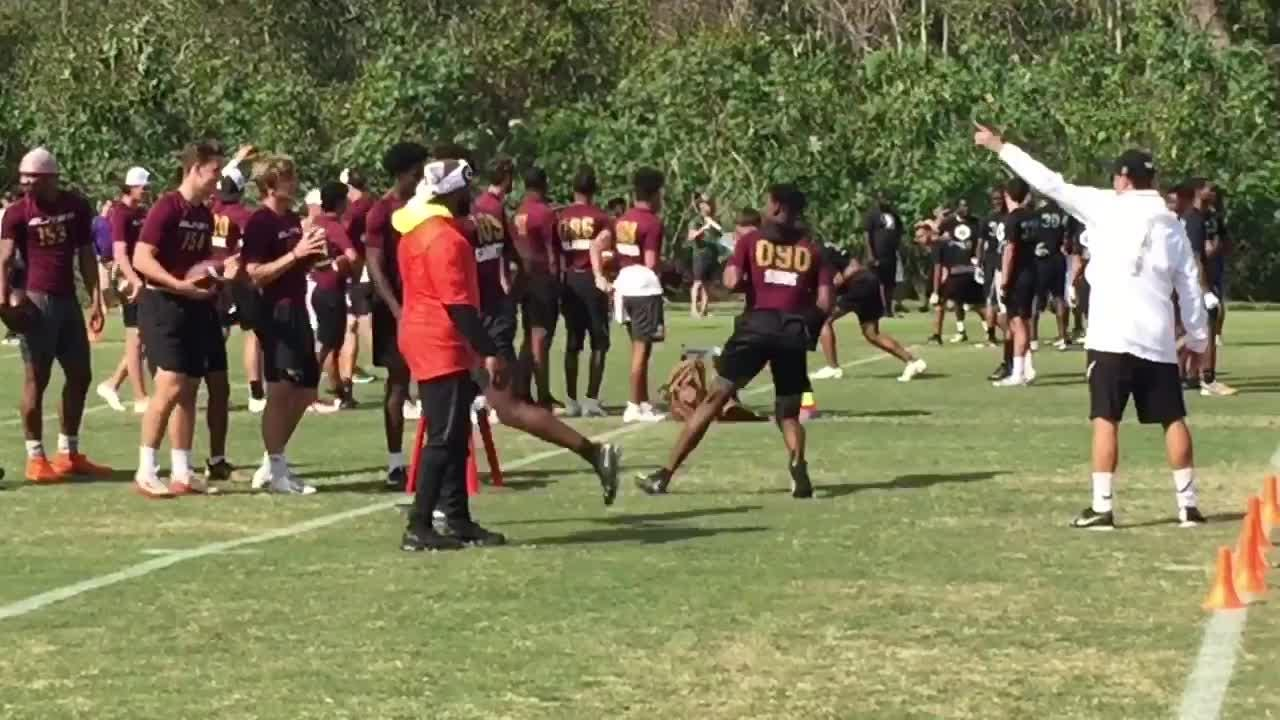 Fsu Spring 2020 Graduation.Watch It Fsu Qb Commit Jeff Sims Works Out At The Opening Orlando