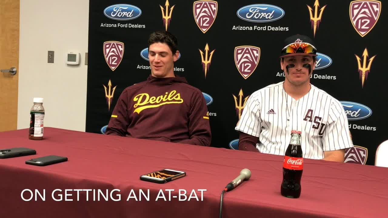Pitcher RJ Dabovich, OF Trevor Hauver on ASU baseball 17-2 win for 7-0 start