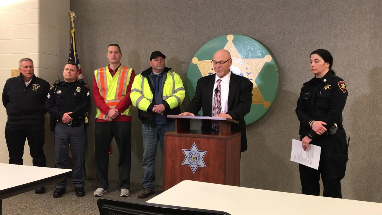 Winnebago County Sheriff John Matz held a second press conference about the 131-car pileup in Neenah.