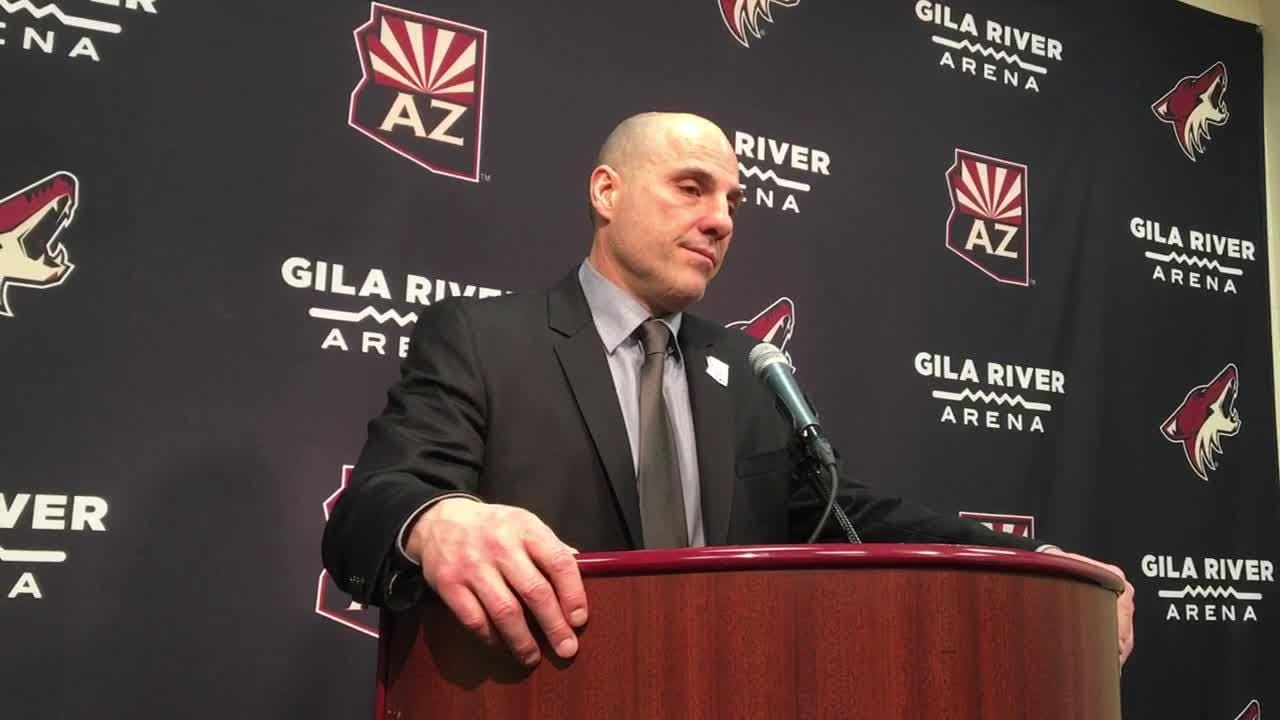Coyotes head coach Rick Tocchet discusses the effect Shane Doan's ceremony had on Sunday's win over Jets.